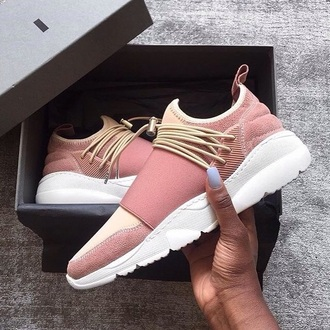shoes pink rose gold pink sneakers