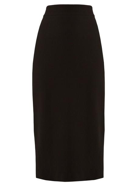 CARL KAPP skirt pencil skirt high midi infinity wool black