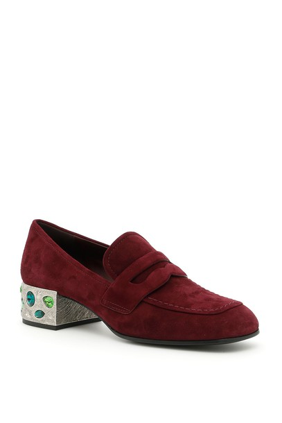 Prada loafers suede shoes