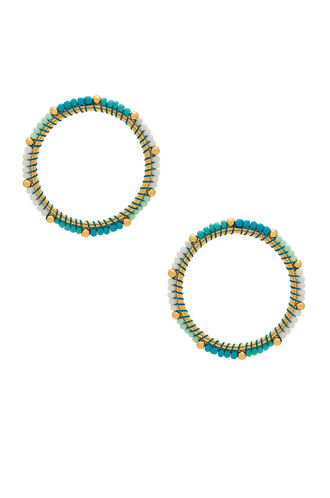 beaded earrings hoop earrings turquoise jewels