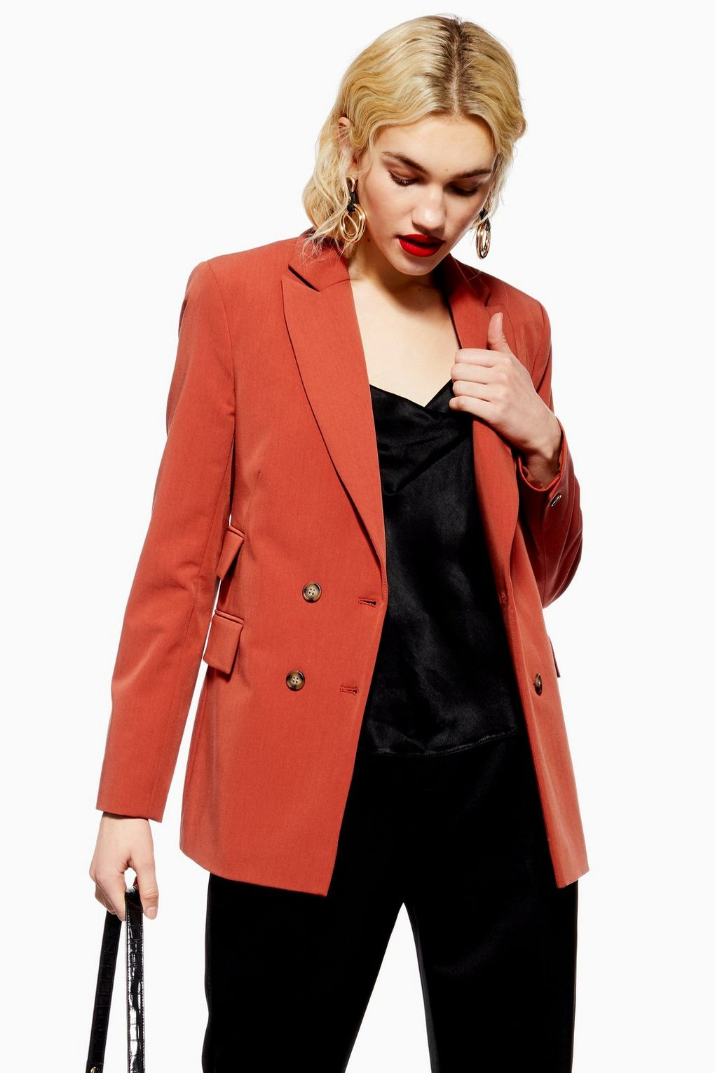 Double Breasted Suit Jacket - Jackets & Coats - Clothing