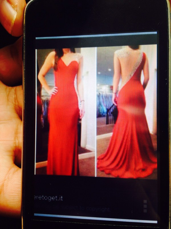 red dress prom dress ball gown dress