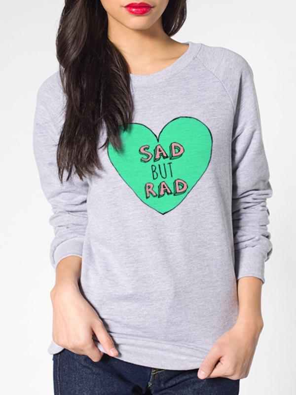 american apparel rad sad sweater sweatshirt tumblr