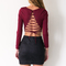 Open minded top in burgundy - black swallow boutique