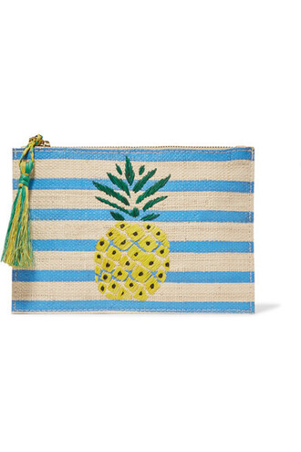 pineapple pouch blue bag