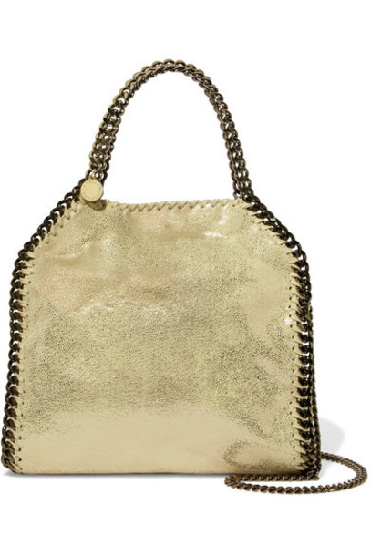 Stella McCartney mini metallic bag shoulder bag gold leather