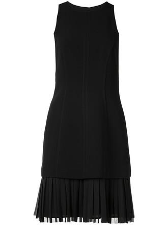 dress pleated women black