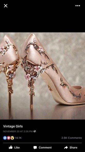 shoes glamour detail heel detail heels flowers
