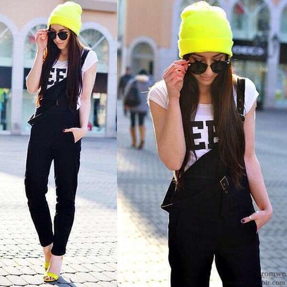 neon yellow neon yellow hat yellow hat beanie winter hat beanies