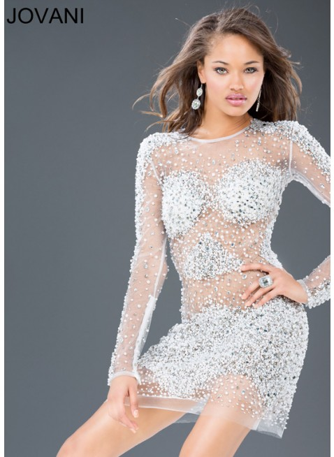 Jovani 88475 Ivory Dress $1100: Homecoming, Prom and Cocktail