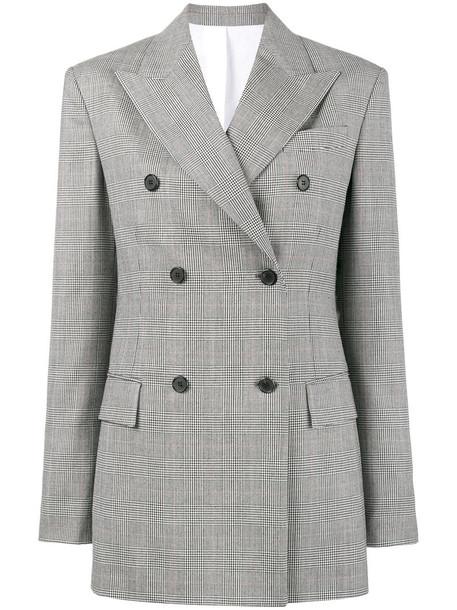 CALVIN KLEIN 205W39NYC jacket double breasted women street cotton wool grey
