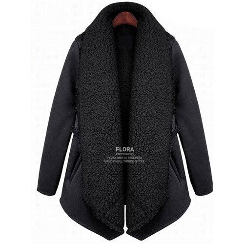 Womens Ladies Winter Warm Fleece Coat Large Lapel Parka Outwear Jacket Size 8-16 | Amazing Shoes UK