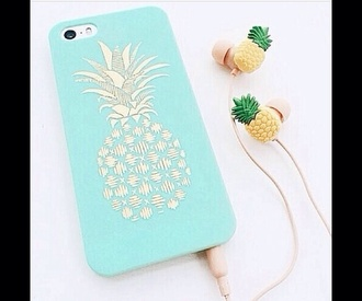 phone case iphone case iphone4s iphone 5 case mint cover case for iphone 4/4s/5 cases pineapple print