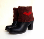 socks,leggings,leg warmers,trendy,red,red heart,brown,gift ideas,gift socks,gift hor her,women,fashion,knit boot cuffs,boots,boot socks,boot socks cuffs,christmas leggings,christmas,valentines day,black friday cyber monday,knitwear,autumn/winter,knitted socks