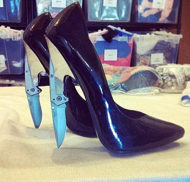 Shoes Heels Knives Silver Killer Killers Killer