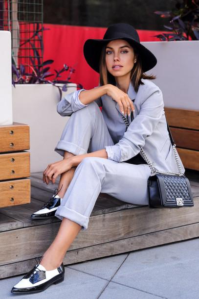 viva luxury blogger dress pants jacket hat shoes bag jewels