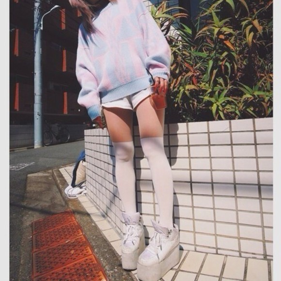 sweater loose fit sweater oversized sweater cute pastel pink sweater cute sweaters