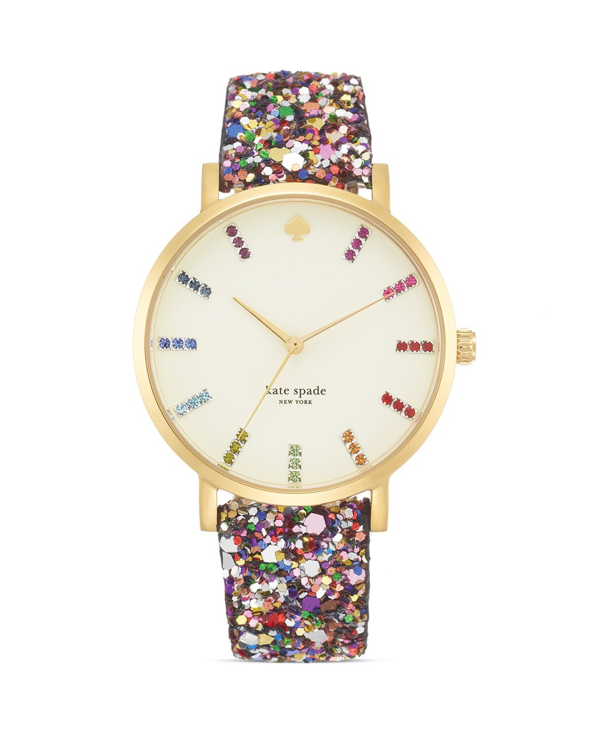 kate spade new york Multi Glitter Interchangeable Strap Watch Gift Set, 38mm | Bloomingdale's