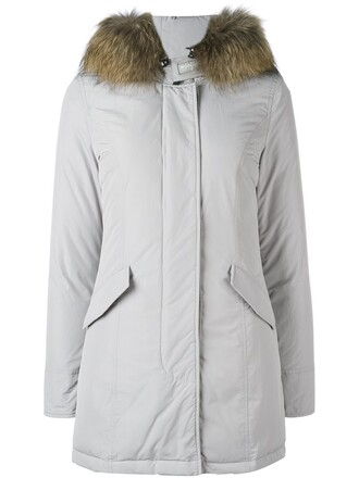 parka women grey coat