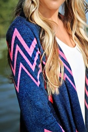 sweater,navy,pink,cardigan,pink coat