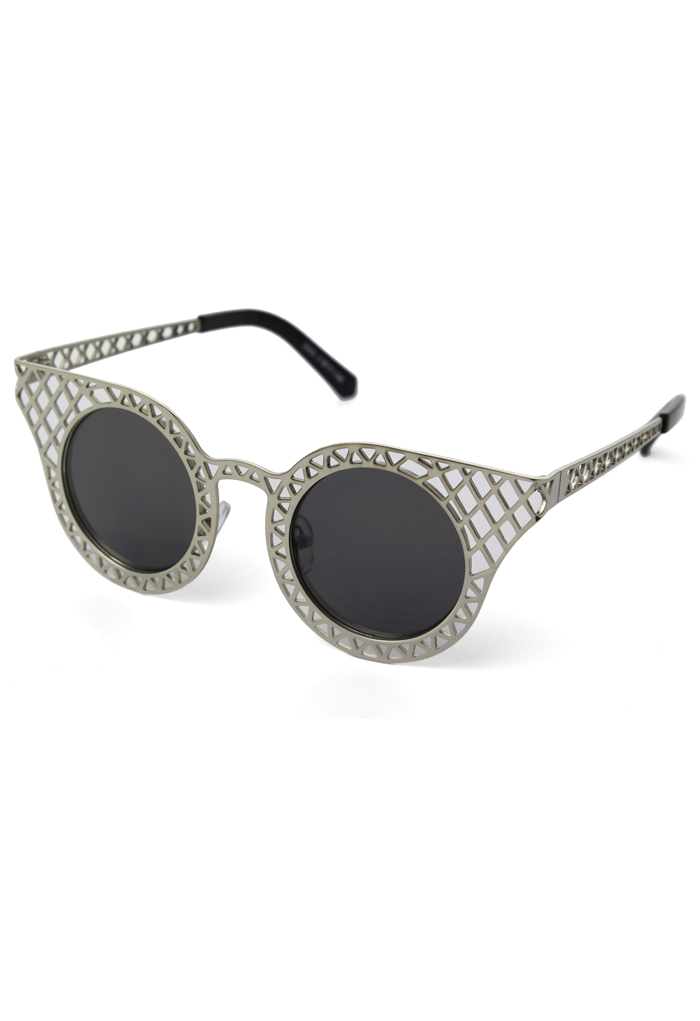 Cut Out Metal Frame Cat Eye Sunglasses - Retro, Indie and Unique Fashion