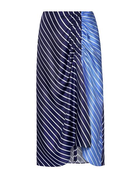 Tibi skirt navy silk