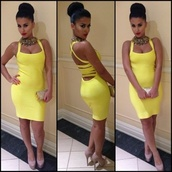 dress,yellow