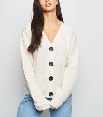 Petite Cream Fisherman Knit Button Up Cardigan | New Look