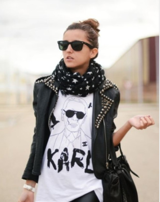 jacket black studded leather jacket