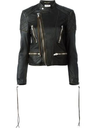 jacket biker jacket women cotton black