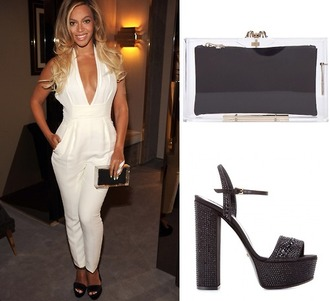 jumpsuit beyonce white