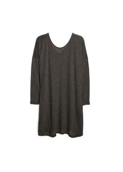 oversize jersey dress