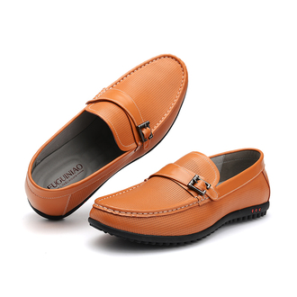 shoes moccasins loafers driving orange round toe slip on shoes genuine leather flats mens shoes footwear men fashion shirt mens slip ons