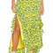 Tanya taylor rita skirt in yellow & midnight from revolve.com