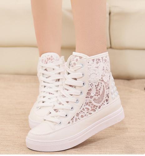 Cute fashion hot zipper canvas shoe