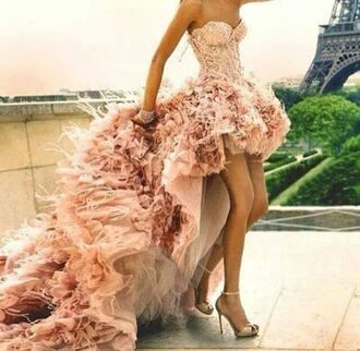 dress beige dress pink dress long dress high heels wedding dress