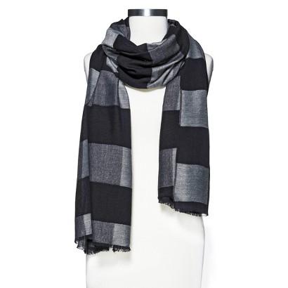 Mossimo® Solid Plaid Scarf - Black/Gray