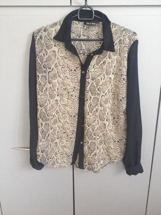 blouse snake print classy wild fancy stylish vintage shirt