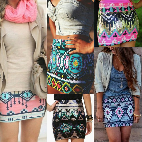 skirt tribal skirt sequins