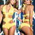 Sexy Yellow Halter Cut Out Swimsuit  s and wide range of Unique Sexy Swimwear at ElectriqueBoutique.com