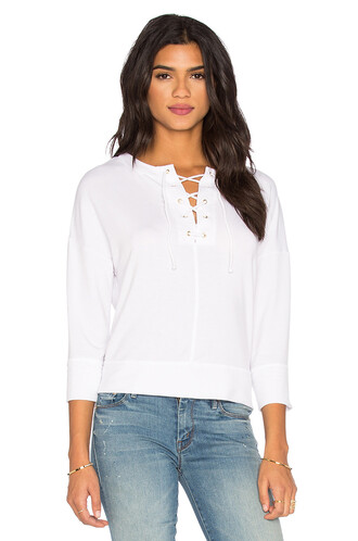 top lace up top lace white