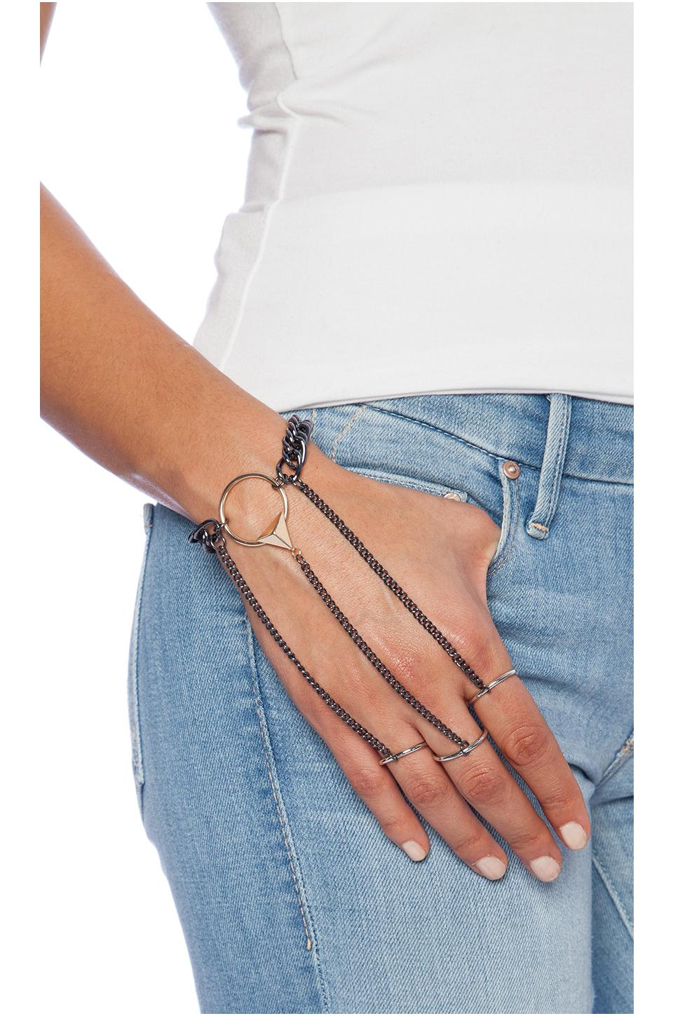 8 other reasons game over hand chain in gold & gunmetal from revolveclothing.com