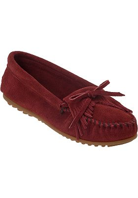 Minnetonka moccasin kilty moccasin deep red suede