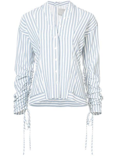 jason wu shirt striped shirt women cotton blue top