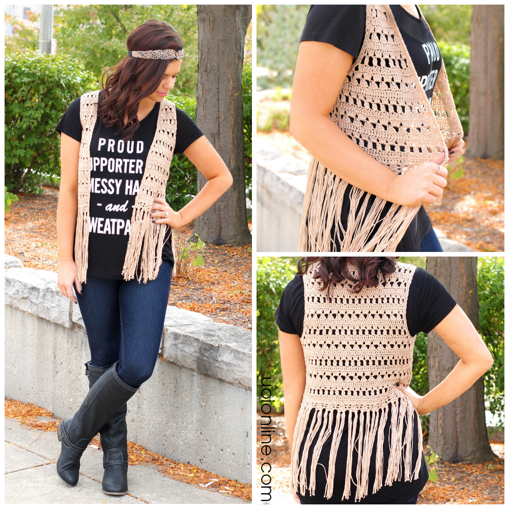 Boho Fringe Vest | uoionline.com: Women's Clothing Boutique