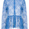 Msgm - lace blouse - women - cotton/polyamide/polyester/viscose - 40, blue, cotton/polyamide/polyester/viscose