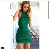 dress,green dress,green,sexy,sexy dress,clothes,zaful,shopping,women,style,lace dress,summer,girl,girly,bodycon,bodycon dress,green lace,green lace dress,green bodycon dress,lace,lace bodycon dress,bodycon lace dress,halter neck,hat,dreamclosetcouture,green lace halter neck,lace halter dress,tight