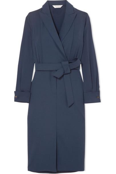 Max Mara dress blue silk wool