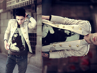 jacket golden buttons gold buttons