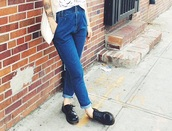 jeans,blue dress,denim,mom jeans,boyfriend jeans,vintage,lovely pepa,indie,alternative,retro,fashion,style,blogger,casual